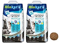 WITH ACTIVATED CARBON AND RENEWABLE NATURAL clay from coconut shell fibres with disinfectant known for their odour binding and absorbent effects VIRTUALLY DUST FREE, the fresh granules dont stick to your cats paws so they wont leave a trail of litter...
