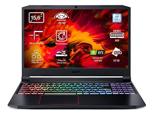 Acer Nitro 5 Ordenador Portátil AN515-54, 15.6' FHD ComfyView IPS LED LCD, (Intel® Core™ i5-9300H, 16GB, 512GB SSD, NVIDIA® GeForce RTX™ 2060, Negro, Sin Sistema Operativo) QWERTY Español