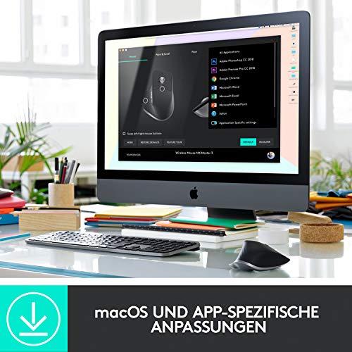 Logitech MX Master 3 – Die fortschrittliche, kabellose Maus für Mac, Ultraschnelles Scrollen, ergonomisches Design, 4.000 DPI, individualisierbar, USB-C, Bluetooth, für MacBook und iPad, Grau - 11