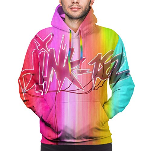 GJINNANFANGBEN Herren Blink 182 Soft Nine Long Sleeve Big Pockets Keep Warm Kapuzenpullover Mit Kordelzug Sweatshirts Black L