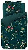 PIP Studio Fleur Grandeur - Juego de cama (funda nórdica de 200 x 200 cm y 2 fundas de almohada de 80 x 80 cm), color azul oscuro