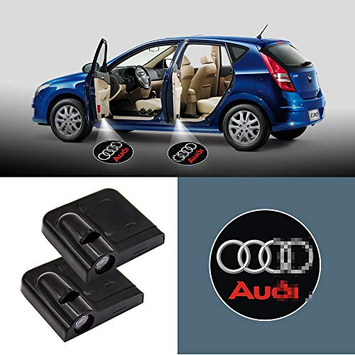 Car concentration camp 2Pcs Car Door Welcome Light Wireless LED Ghost Shadow Projector Logo Light Car Door Courtesy Light Lamp Suitable For Audi All Models