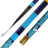 JIAGU Mosca de caña de Pescar 8M Al Aire Libre Rod de Pesca Profesional Long Sección de Barra de Pesca Suministros Barras de Mosca de Agua Dulce (Color : Blue, Size : 8m)