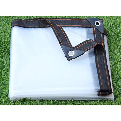 GZHENH Lona Impermeable A Prueba De Viento, Hoja De Lona Universal Plegable Lona Transparente con Ojales De Metal para Vegetación De Automóviles (Color : Claro, Size : 2x5m)
