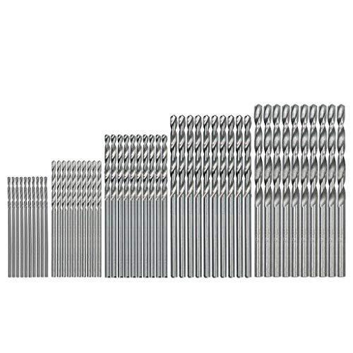 50 TLG HSS Twist Drill Bohrer Mini Spiralbohrer, Micro Bohrer Set, Holzbohrer Handspiralbohrer Bohrersets Spiralbohrer-Set Handbohrer Drillbohrer Drill Set 1mm-3mm