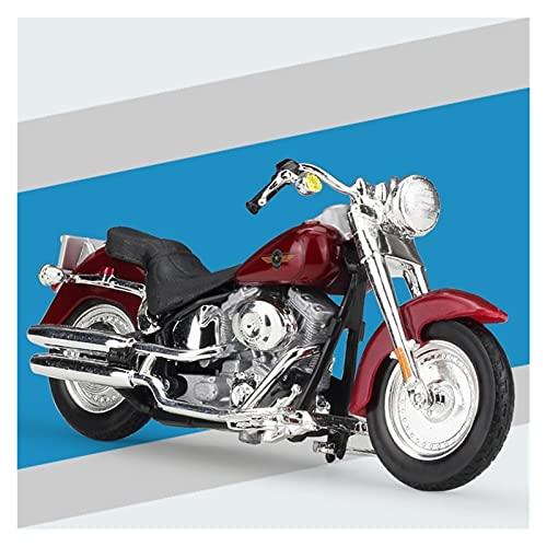 Boutique 1:18 Modelo De Motocicleta Simulación Fundición A Presión para Harley 2004 FLSTFI Fat Boy Colección Adultos Regalo Coche De Juguete