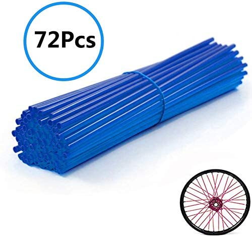 Universal Bicycle Spoke Covers 72Pcs Motorcycle Wheel Spoke Wraps Pipe Trim Decoration Protector product image