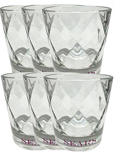 Sears Gin Gläser Retro Design Gläser 6 Stück