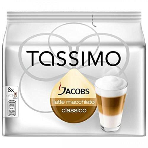 Bosch Tassimo 'Jacobs Latte Macchiato Classico' T Disc Coffee Machine Capsules