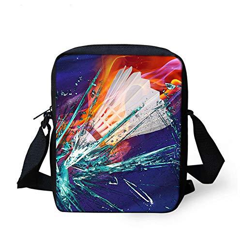 3D-Druck Badminton Schüler Handtasche Kinder Umhängetasche Schultertasche Rucksack Kinder Kleine Tasche Jugend Tasche