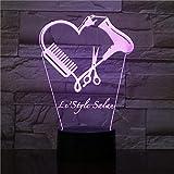 3D Night Light Table Desk Optical Illusion Lamps Hair Stylist Scissor Led Night Lamp Barber Shop Hairdresser Scissor Decorative Lighting Cosmetology Hairdresser Gift TIEHENG