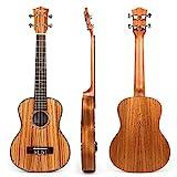 Kmise - Ukelele tenor, 66 cm, madera maciza de caoba, puente de palisandro, mate, marrón