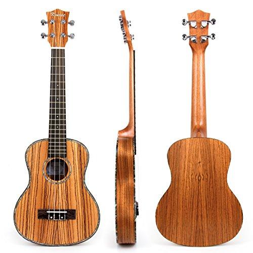 Kmise - Ukelele tenor, 66 cm, madera maciza de caoba, puente de palisa