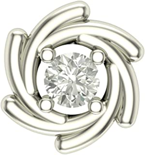 Dishis Designer Jewellery 18KT White Gold and Diamond Nose Pin for Women