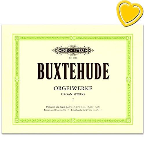 Buxtehude Orgelwerke Band 1 - Sammelband: Präludien und Fugen, Toccata, Passacaglia, Ciacona, Canzonetta - mit bunter herzförmiger Notenklammer