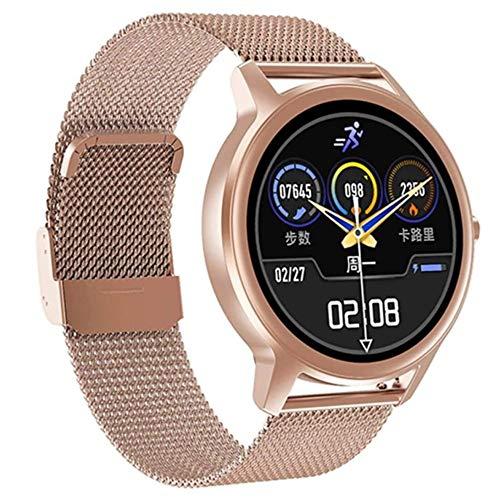 Angelay-Tian Reloj Inteligente para Hombres, 1.28 Reloj Inteligente con Pantalla táctil Completa IP67 Monitor de frecuencia cardíaca Bluetooth 4.2 Presión Arterial Rastreador de Ejercicios Smartwatch