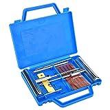 Kit de réparation de pneus à plat pour outils de réparation de pneus pour motos d'automobiles avec boîte, 13 pièces