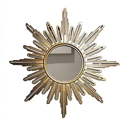 Espejo de la Pared de la Pared en Forma de Sol Decorativa de Estilo Europeo, Espejo Lateral, Espejo de Fondo, Espejo de Pared