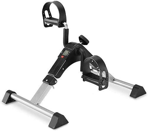 WUHX Mini exerciseur de pédale, avec Moniteur LCD, exerciseur de pédale de Jambe Pliable à résistance réglable pour Femmes et Hommes