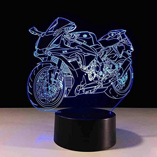 Lámpara De Mesa Cambiable De Color De Luz Nocturna Led Para Motocicleta 3D, Placa De Metacrilato, Luz Nocturna Para Niños
