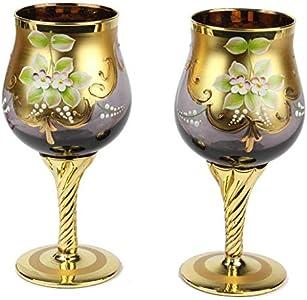 Juego de 2 vasos Trefuochi Fumè - You&Me - Cristal de Murano original