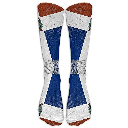 Men's Women's Funny Rettro Dominican Republic Flag Long Sock Athletic Calf High Crew Soccer Socks Sports
