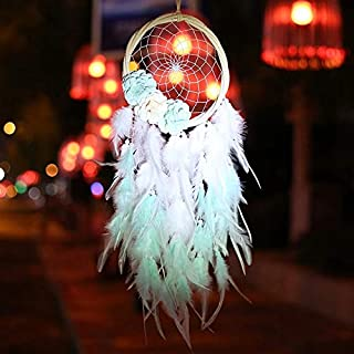 JJZXD LED Light String Night Light Wind Chimes Home Decor Wall Hanging Room Decoration for Holiday Best Girls (Color : wit...