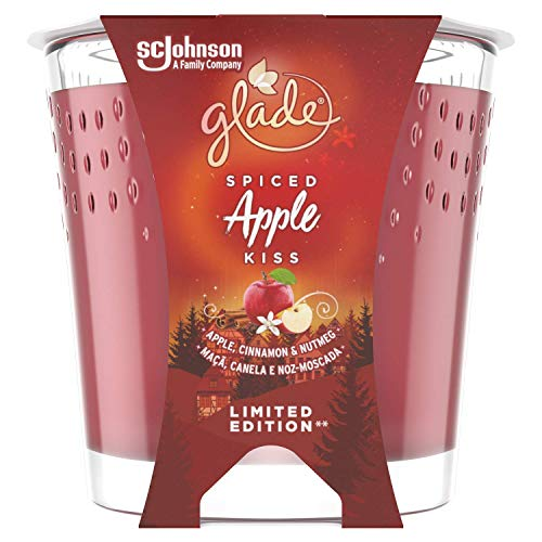 Glade Candle Spiced Apple Air Freshener 129 g, Inspired by Disney's Frozen 2