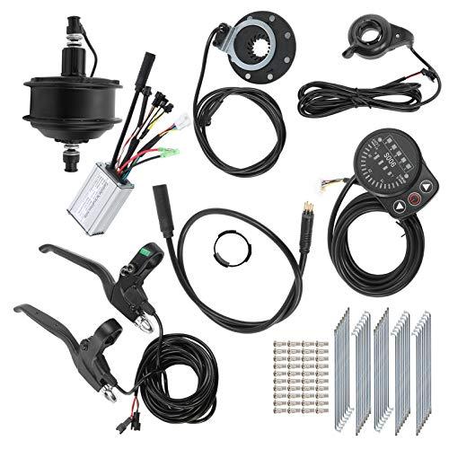 VGEBY Juego Conversión Bicicleta Eléctrica, 48V 250W 20in 12G Rim Kit Conversión Bicicleta Eléctrica con Controlador Medidor KT-900S Casera para Bricolaje(Mosca de la Tarjeta de transmisión Trasera)