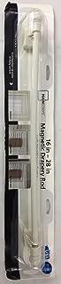 Mainstays 16 - 28 Adjustable Magnetic Curtain Rod, White Finish