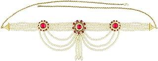 Anuradha Art Golden Colour Something Stylish Moti Styled Kamar-Patta Waist Chain for Women/Girls