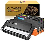 ONLYU Compatible Toner Cartridge Replacement for Samsung CLT-406S CLT-K406S CLT-C406S CLT-M406S CLT-Y406S for Samsung Xpress C460FW C460W C410W CLX-3305 (1Black,1Cyan,1Magenta,1Yellow)