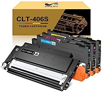 ONLYU Compatible Toner Cartridge Replacement for Samsung CLT-406S CLT-K406S CLT-C406S CLT-M406S CLT-Y406S for Samsung Xpress C460FW C460W C410W  1Black,1Cyan,1Magenta,1Yellow