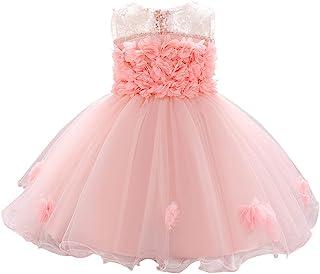 ODASDO Baby Girl Flower Dress Infant Wedding Bridesmaid Birthday Party Pageant Tutu Tulle Princess Dresses for 6-24M