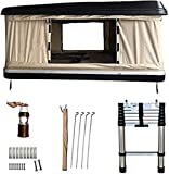 DANCHEL OUTDOOR Hard Shell Tent for Camping 2-3 Person Roof Top Tent for SUV Trucks Overland Travel (Black Khaki)
