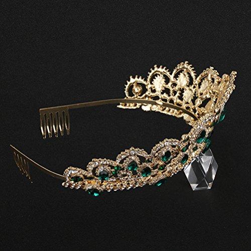 Lurrose Crown Bridal Retro Shiny Rhinstone haaraccessoires accessoires hoofdband haarband voor bruiloft party verjaardag