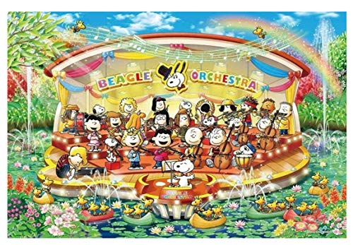 JYSHC 1000 Piezas Puzzle Snoopy Water Orchestra Concierto Rompecabezas De Madera Adulto E Hijo Nz114Ya
