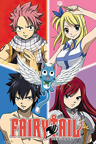 POSTER STOP ONLINE Fairy Tail - Manga/Anime TV Show Poster/Print (Character Grid) (Size 24' x 36')