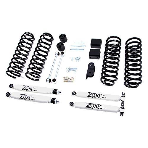 "Jeep 3"" JK Wrangler Full Suspension Lift kit Zone Offroad 2 door w/Black Nitro Shocks"