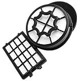 AEG AEF112 Filterset für CyclonClean (1 Hygienefilter, 1 Grobschmutz-Motorfilter, 1 Abluftfilter, Filtertausch, optimale Filtrationsleistung, verbesserte Saugleistung, saubere Luft, schwarz)
