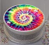 Sprinkles & Toppers Ltd Personalised Tie Dye Peace Sixties 19cm / 8'...