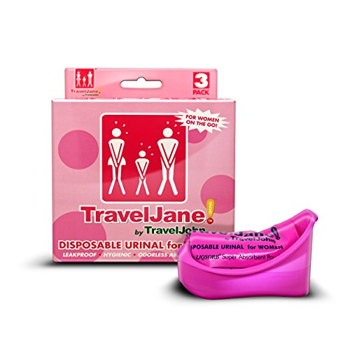 TravelJane by TraveJohn Disposable Urinal Packs for Women 3-Pack