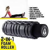 TeamSoda Fitness Massage-Set: 2 in 1 Faszienroller + doppelter Lacrosse Massageball + Massage Roller Stick - 5