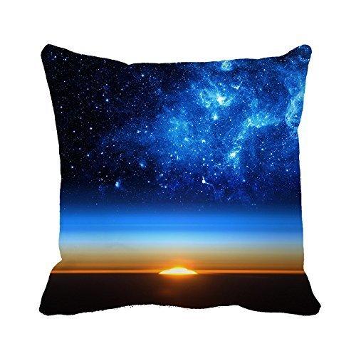 Warrantyll élégante Lever de soleil étoile Univese Home décoratif Coussin carré Taie d'oreiller, Coton, #Color 1, 16*16