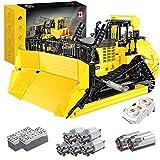 YaYashow Técnica Bulldozer RC Bulldozer Vehículo de construcción con aplicación y mando a distancia de 2,4 GHz, 1866 bloques de construcción compatible con Lego Technic