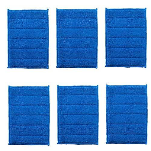 AUCDK Mikrofaser-Reinigungstuch Fume Maschine Herd Friction Tuch Dunstabzugshaube Wipe Cloth Scrubing Schwamm Für Küche Blau 6pcs