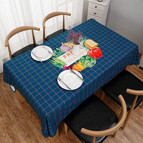 WSJIABIN Carvapet Manteles Rectangular Manteles Algodón Lino Mantel Manteles para Cocina Comedor Mesa Buffet Mantel de (140X180cm