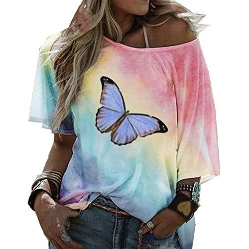 x8jdieu3 Sommer Rollkragenpullover Mit Losen Lippen Kreativ Bedrucktes T-Shirt Mit Rundhalsausschnitt