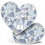 Impresionante 2 pegatinas de corazón de 7,5 cm – Bonito diseño de casa del árbol divertido para el hogar, para portátiles, tabletas, equipaje, libros de chatarras, neveras, regalo genial #24325