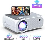 Bomaker Smart HD Wi-Fi Projector, 5000 Lux, 1080P and 300 Inch Picture Supported